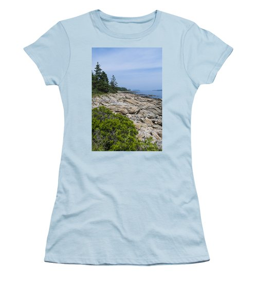 Marshall Ledge Looking Downeast Women's T-Shirt (Athletic Fit)