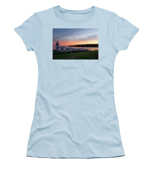 Women's T-Shirt (Junior Cut) featuring the photograph Marshall Point Lighthouse, Port Clyde, Maine -87444 by John Bald