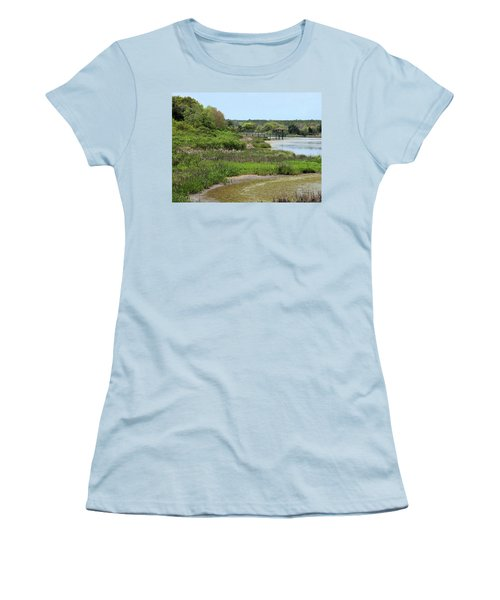 Women's T-Shirt (Junior Cut) featuring the photograph Marshlands by Cathy Harper