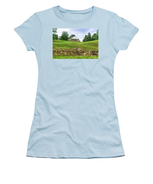 Women's T-Shirt (Athletic Fit) featuring the photograph Marye's House by John M Bailey