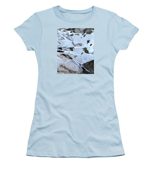 Women's T-Shirt (Junior Cut) featuring the photograph Ice Mask Abstract by Glenn Gordon