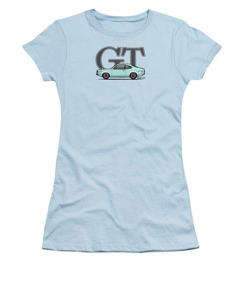 Mazda Savanna Gt Rx-3 Baby Blue Women's T-Shirt (Junior Cut) by Monkey Crisis On Mars