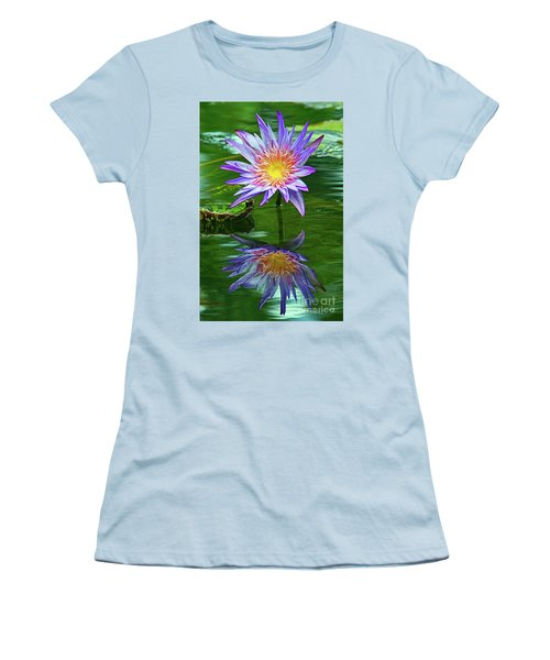 Mckee Water Lily Women's T-Shirt (Junior Cut) by Larry Nieland
