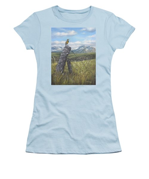 Meadowlark Serenade Women's T-Shirt (Junior Cut)