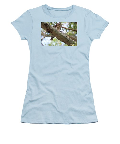 Mean Hawk At Dinner Time Women's T-Shirt (Athletic Fit)