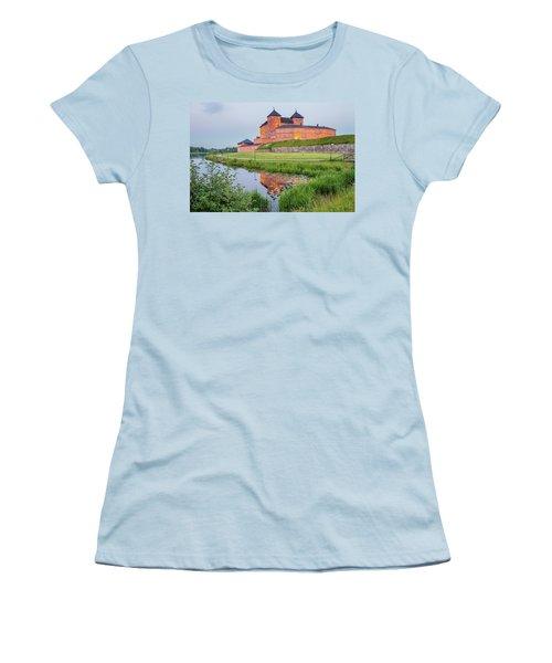 Medieval Castle Women's T-Shirt (Junior Cut) by Teemu Tretjakov