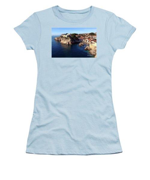 Medieval Fortresses Lovrijenac And Bokar Dubrovnik Women's T-Shirt (Junior Cut) by Jasna Dragun