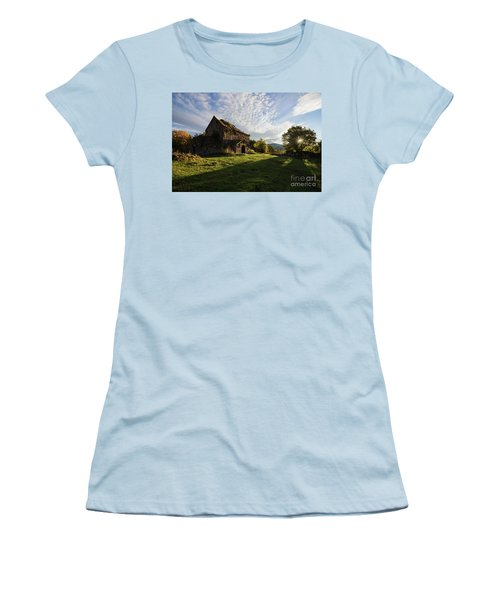 Medieval Tezharuyk Monastery During Amazing Sunrise, Armenia Women's T-Shirt (Athletic Fit)
