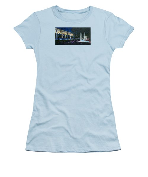 Women's T-Shirt (Junior Cut) featuring the painting Meet Me At The Muny by Michael Frank