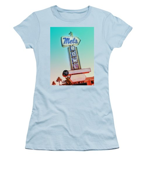 Mels Bowl Retro Sign Women's T-Shirt (Athletic Fit)