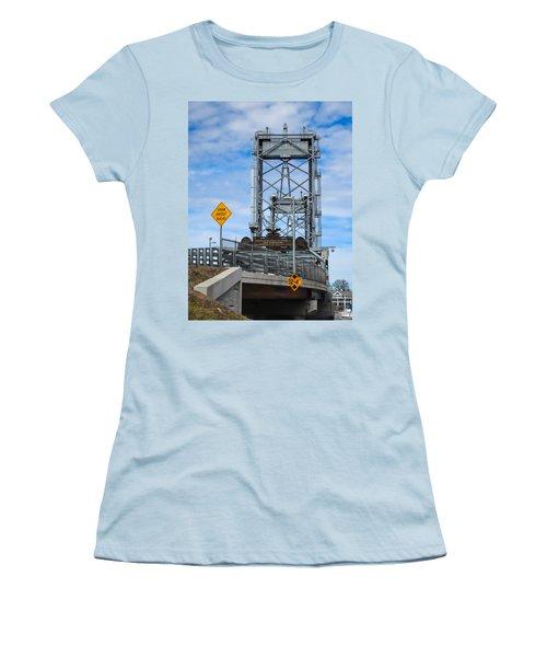 Memorial Bridge Portsmouth  Nh Women's T-Shirt (Junior Cut) by Nancy De Flon