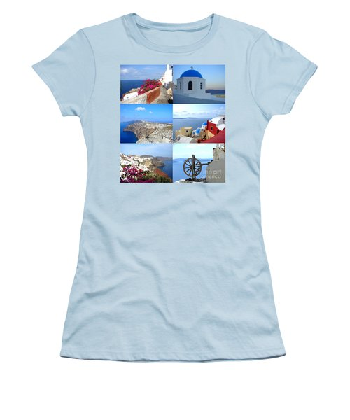 Women's T-Shirt (Junior Cut) featuring the photograph Memories From Santorini by Ana Maria Edulescu