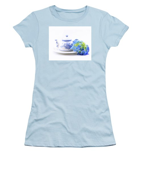 Memories In Blue Women's T-Shirt (Athletic Fit)