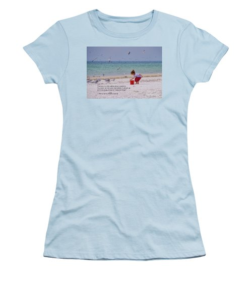 Women's T-Shirt (Athletic Fit) featuring the photograph Memory by Peggy Hughes
