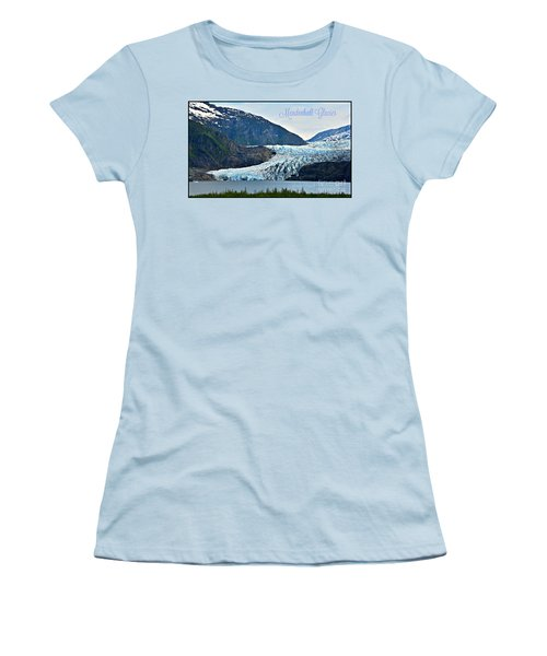 Mendenhall Glacier Women's T-Shirt (Athletic Fit)