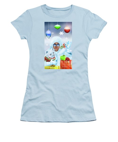 Merry Christmas And Kisses Women's T-Shirt (Athletic Fit)