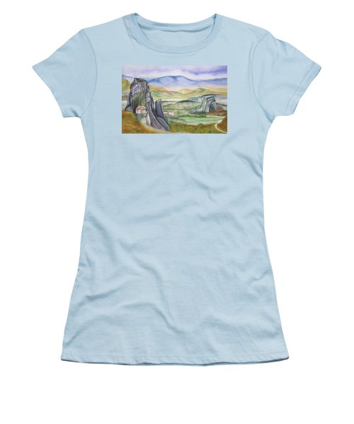 Meteora Women's T-Shirt (Junior Cut) by Teresa Beyer
