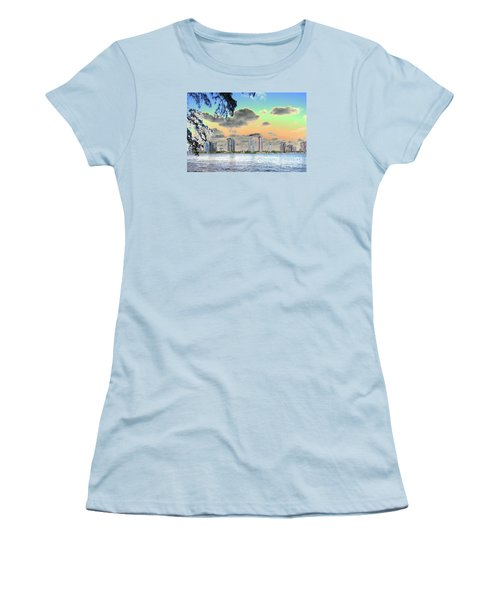 Miami Skyline Abstract Women's T-Shirt (Junior Cut) by Christiane Schulze Art And Photography