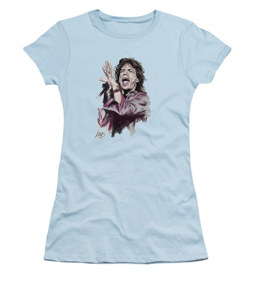 Mick Jagger Women's T-Shirt (Athletic Fit)