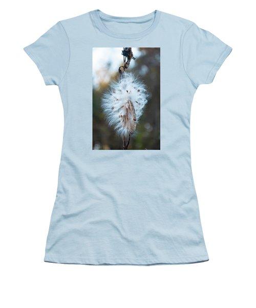 Milkweed And Its Seeds Women's T-Shirt (Junior Cut) by Chris Flees