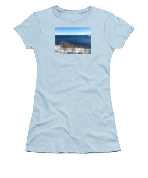 Minimalist Soft Focus Seascape Women's T-Shirt (Junior Cut) by Patricia E Sundik