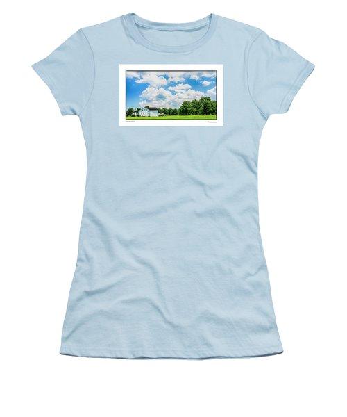 Women's T-Shirt (Junior Cut) featuring the photograph Mingoville Clouds by R Thomas Berner