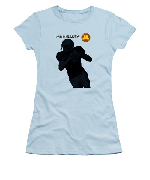 Women's T-Shirt (Junior Cut) featuring the digital art Minnesota Football by David Dehner