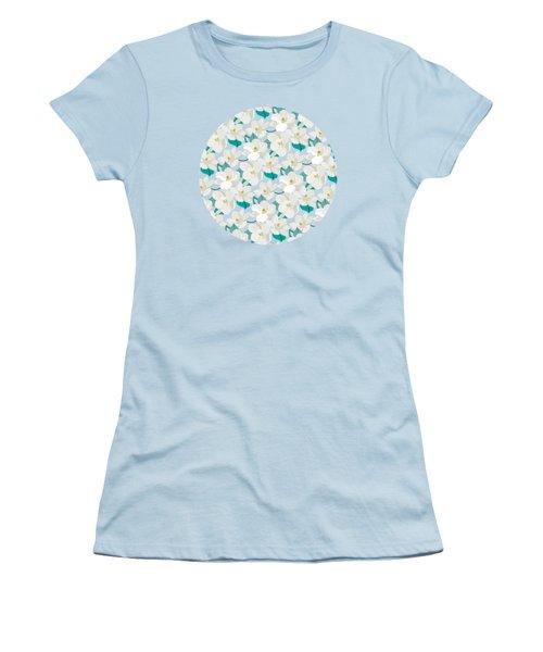 Mint Magnolias Women's T-Shirt (Athletic Fit)