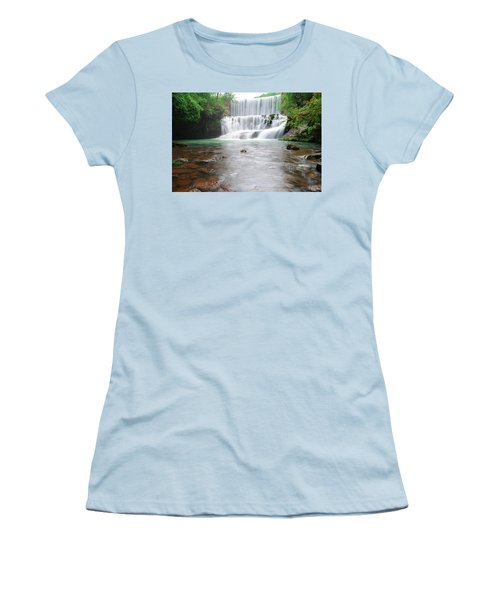 Women's T-Shirt (Junior Cut) featuring the photograph Mirror Lake Falls 2 by Renee Hardison