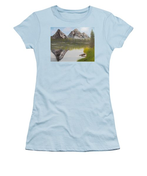 Mirror Mountain Women's T-Shirt (Junior Cut) by Thomas Janos