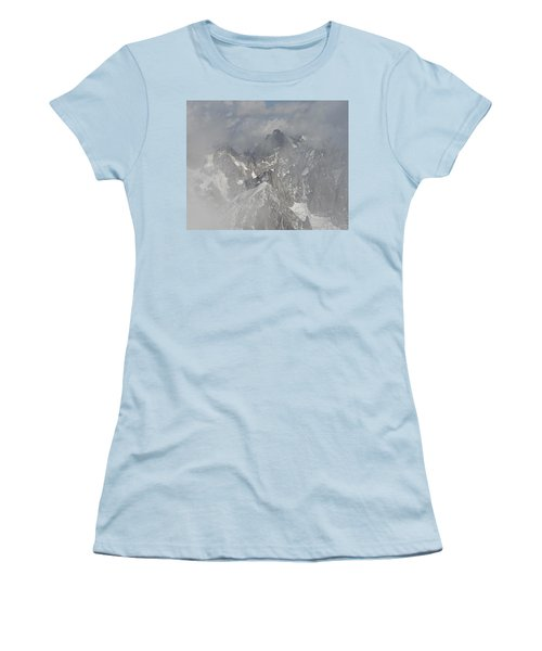 Mist At Aiguille Du Midi Women's T-Shirt (Athletic Fit)