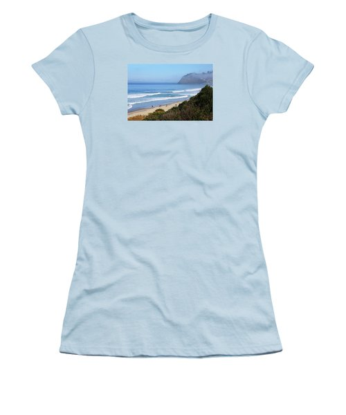 Misty Beach Morning Women's T-Shirt (Athletic Fit)