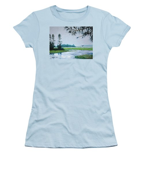 Misty Morning Women's T-Shirt (Junior Cut) by Stanton Allaben