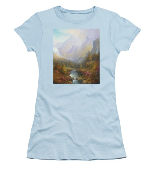 Misty Mountains Women's T-Shirt (Athletic Fit)