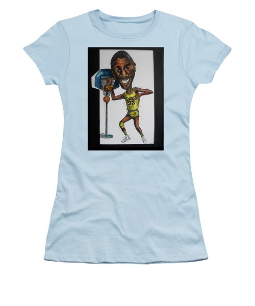 Mj Caricature Women's T-Shirt (Athletic Fit)