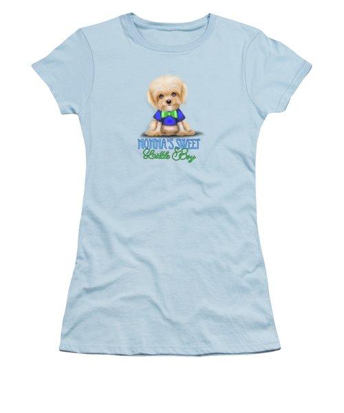 Mommas Sweet Little Boy Women's T-Shirt (Junior Cut) by Catia Cho
