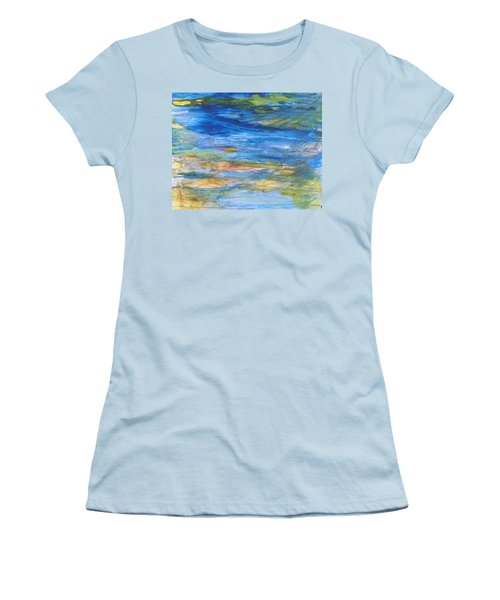 Monet's Pond Women's T-Shirt (Athletic Fit)