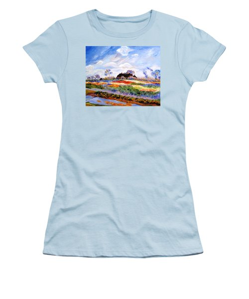 Monet's Tulips Women's T-Shirt (Junior Cut) by Jamie Frier