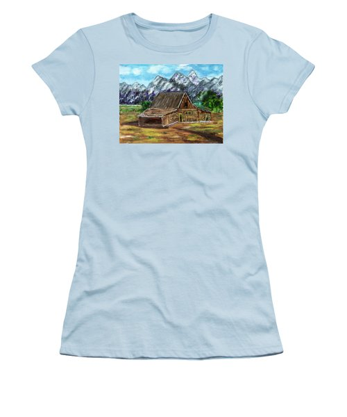 Montana Barn Women's T-Shirt (Athletic Fit)