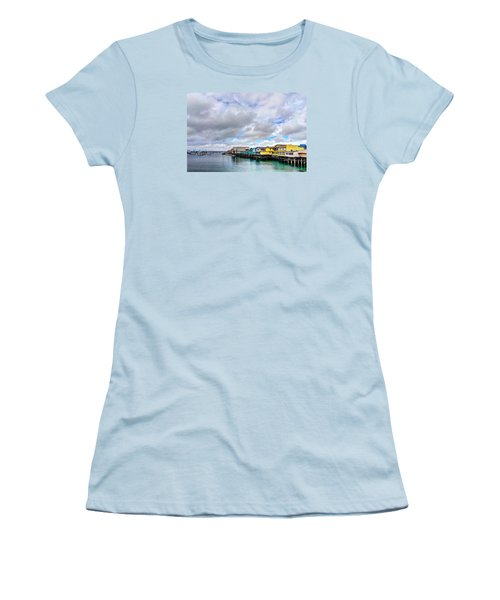 Monterey Wharf  Women's T-Shirt (Athletic Fit)