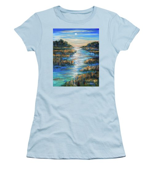 Moon Over Waterway Women's T-Shirt (Athletic Fit)