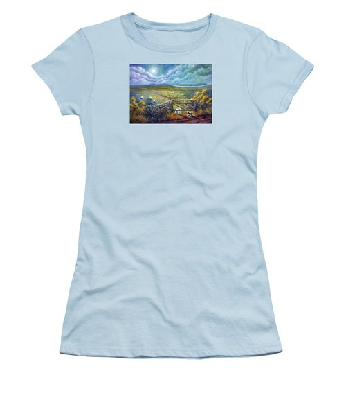 Moonlight Rendezvous Women's T-Shirt (Junior Cut) by Retta Stephenson