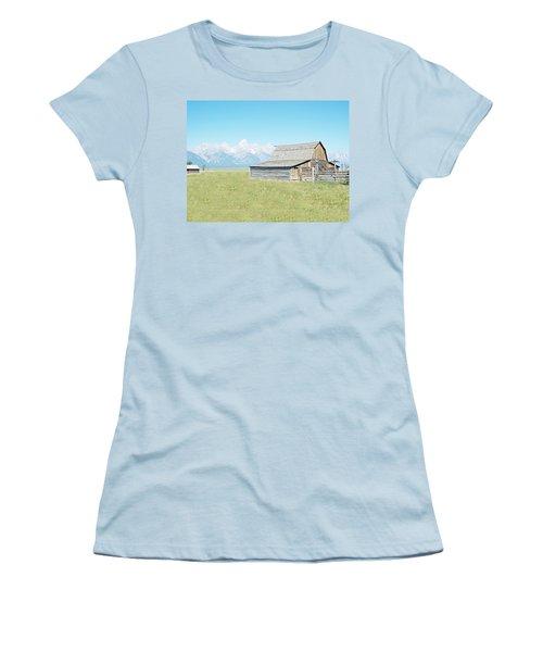 Mormon Row Barn - Grand Tetons Women's T-Shirt (Junior Cut) by Joseph Hendrix