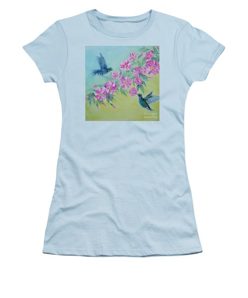 Morning In My Garden. Special Collection For Your Home Women's T-Shirt (Junior Cut) by Oksana Semenchenko