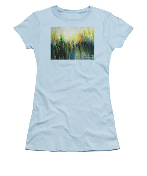 Women's T-Shirt (Junior Cut) featuring the painting Morning Light by Elena Oleniuc
