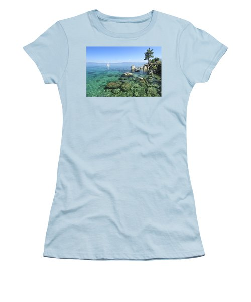 Women's T-Shirt (Athletic Fit) featuring the photograph Morning On The Water by Sean Sarsfield