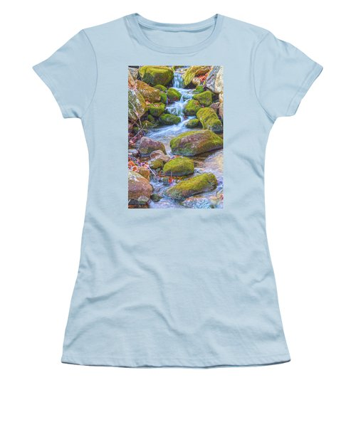 Mossy Stepping Stones Women's T-Shirt (Junior Cut) by Angelo Marcialis