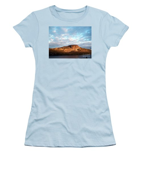 Women's T-Shirt (Junior Cut) featuring the photograph Mottled Sky Of Late Spring by Barbara Griffin