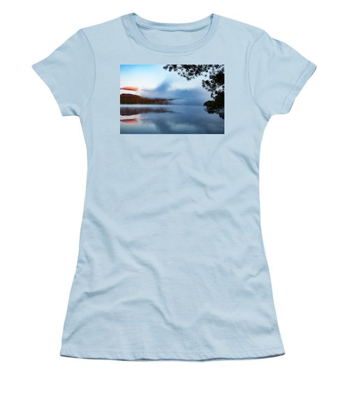 Women's T-Shirt (Athletic Fit) featuring the photograph Mount Chocorua Peeks Above The Fog by Jeff Folger