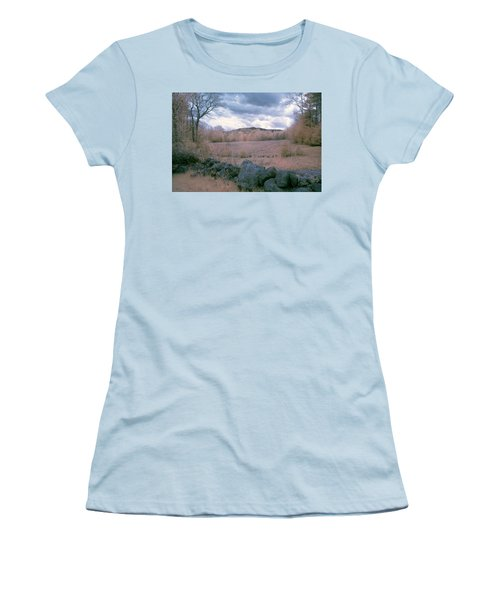 Mount Monadnock In Infrared Women's T-Shirt (Athletic Fit)